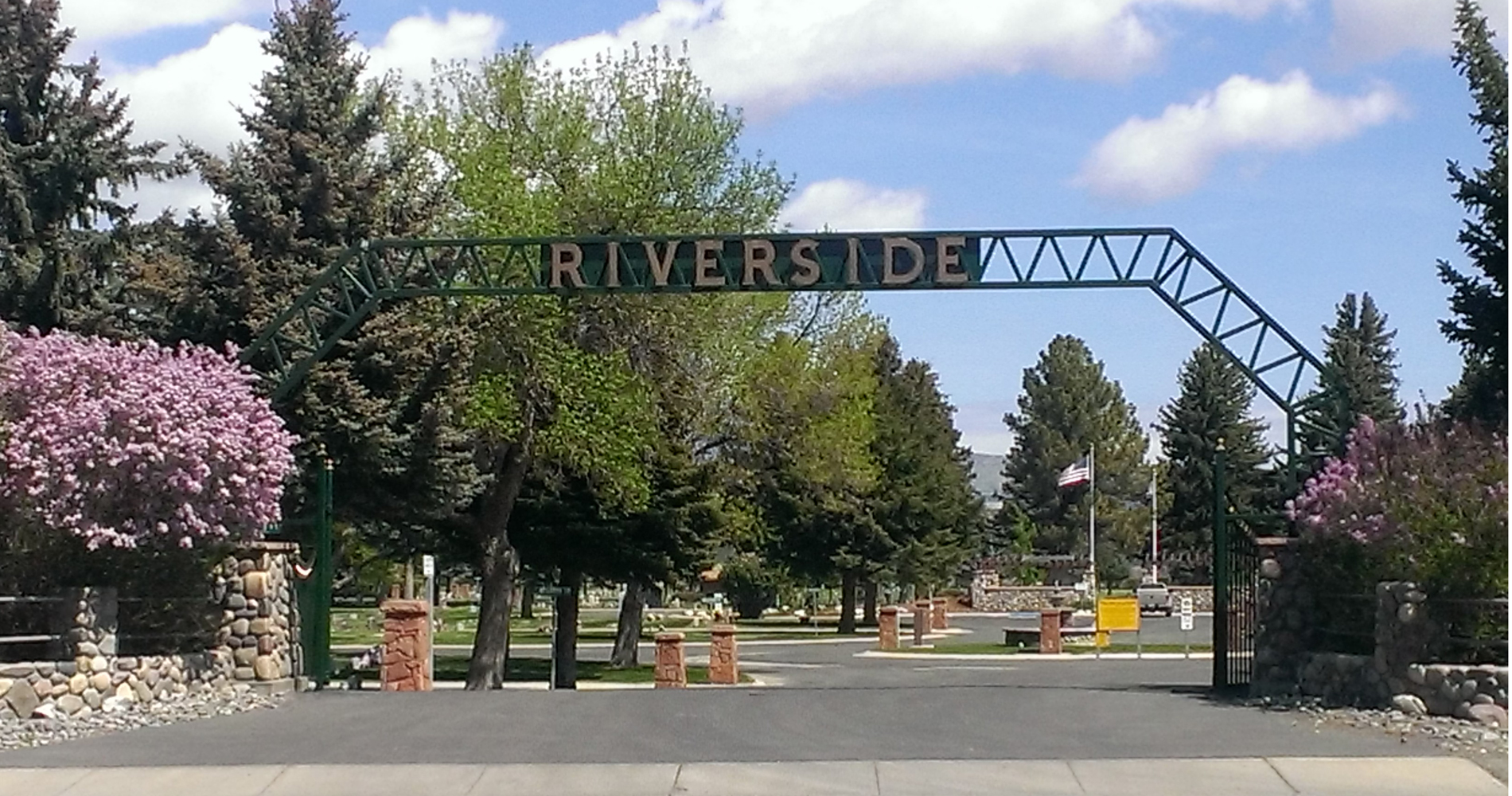 Riverside Cemetery District Entrance